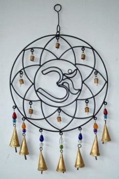 Iron Om Circle Wind Chime