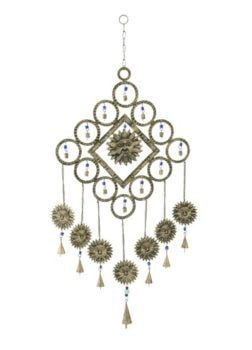 Metal Suns Wind Chime with Bells