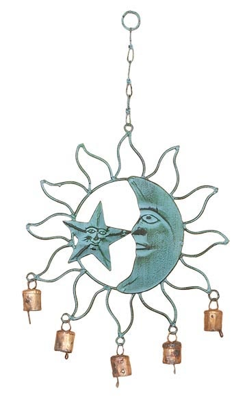 Sun, Moon, and Star Wind Chime