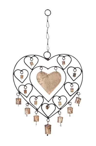Iron Heart Windchime with Bells