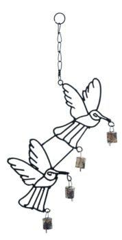 Iron Hummingbirds Wind Chime