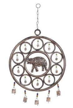 Round Metal Elephant Chime