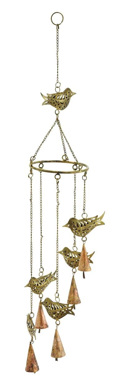 metal birds wind chime globe imports. Black Bedroom Furniture Sets. Home Design Ideas