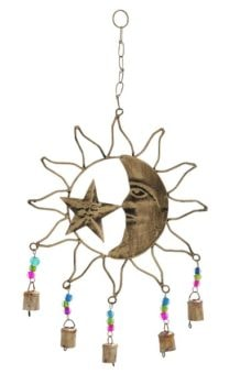Sun Moon and Star Chime with Beads
