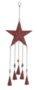 Painted Metal Star Chime