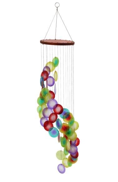 Jewel tone color capiz chime globe imports - Jewel tones color wheel ...