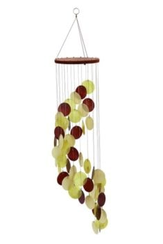 Brown and Topaz Color Capiz Chime