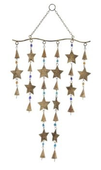 Metal Stars Chime with Beads