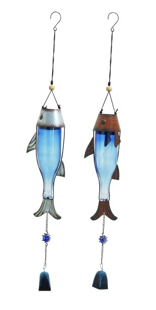 Assorted fish wind chime globe imports for Fish wind chimes