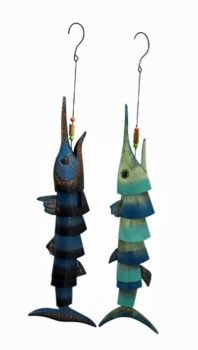 Assorted Metal Marlin Wind Chime