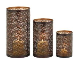 Set of 3 Hurricane Candle Holders