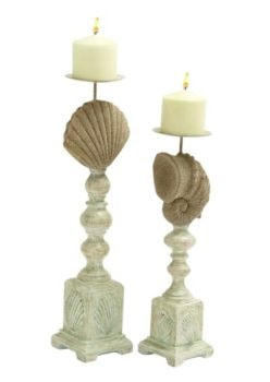 Set of 2 Seashell Candleholders
