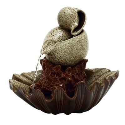Ceramic Seashell Fountain Globe Imports