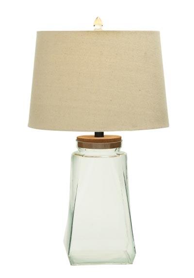 fillable glass jar table lamp globe imports. Black Bedroom Furniture Sets. Home Design Ideas