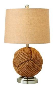 Rope and Metal Nautical Lamp