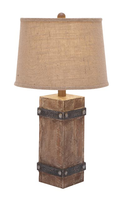 Rustic Style Table Lamp Globe Imports