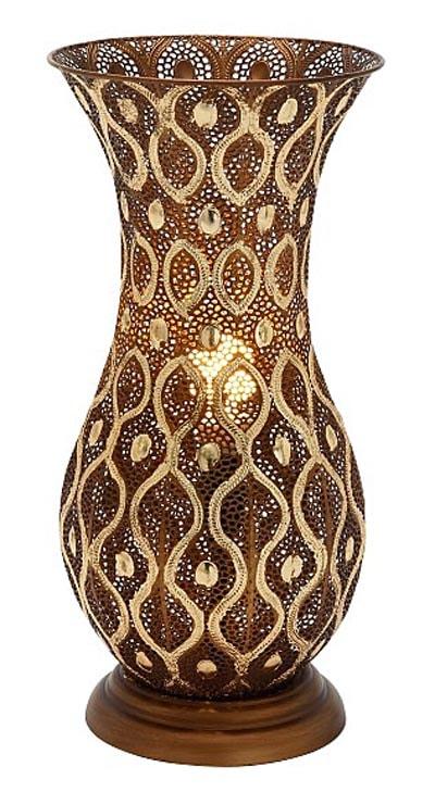 Metal Uplight Vase Lamp Globe Imports
