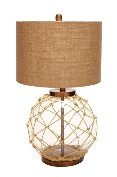 Lovely Nautical Float With Rope Lamp