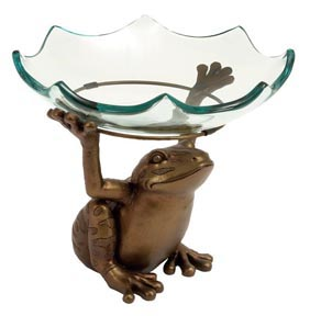 Frog Holding Glass Bowl