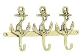 Brass Nautical Anchor Hook