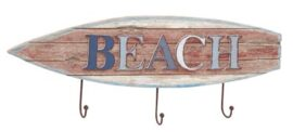 Beach Surfboard Coat Hooks