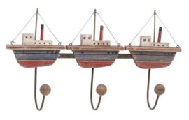 Triple Ship Coat Hooks