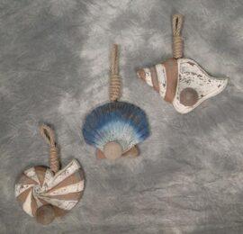 Assorted Decorative Wooden Shell Knob Hook