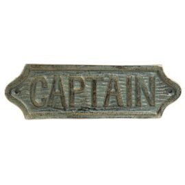 Verdigris Finish Captain Plaque