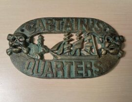 Verdigris Captains Plaque