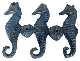 Triple Seahorse Key Hooks