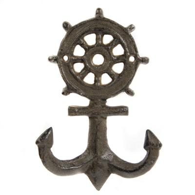Wheel and Anchor Coat Hooks