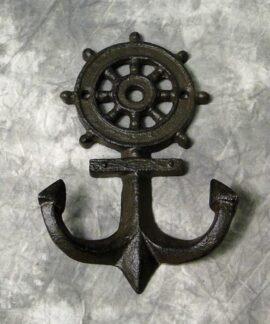 Wheel and Anchor Coat Hooks