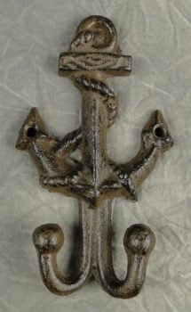 Anchor with Double Coat Hooks