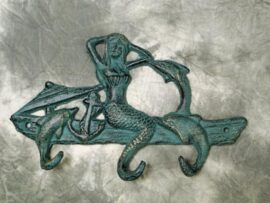 Mermaid and Dolphins Hook