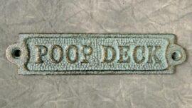 Verdigris Poop Deck Plaque