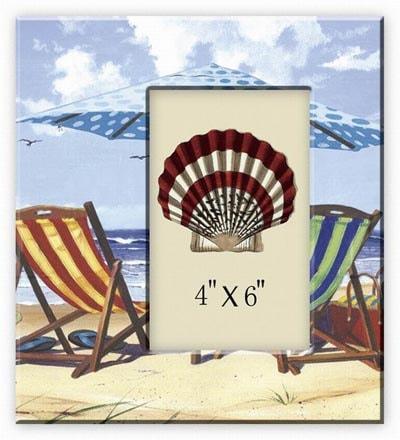 Beach Chairs Ceramic Photo FRAME