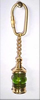 Starboard Lantern Nautical Key Ring