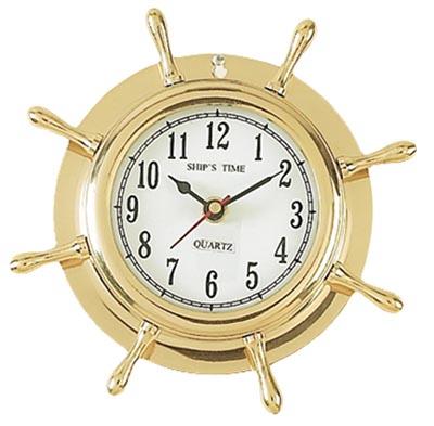 Brass Wheel Clock - Globe Imports