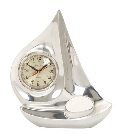 Aluminum Sailboat with Clock
