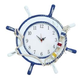 Weathered Nautical Wheel Clock