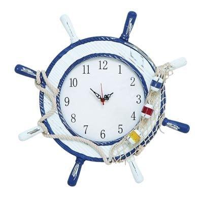 Weathered Nautical Wheel Clock