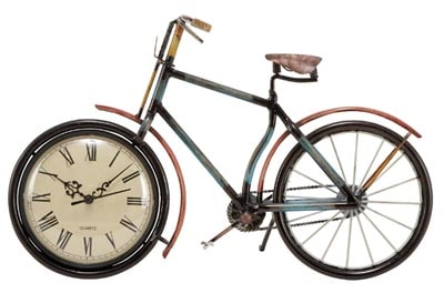 Bicycle with Clock in Wheel