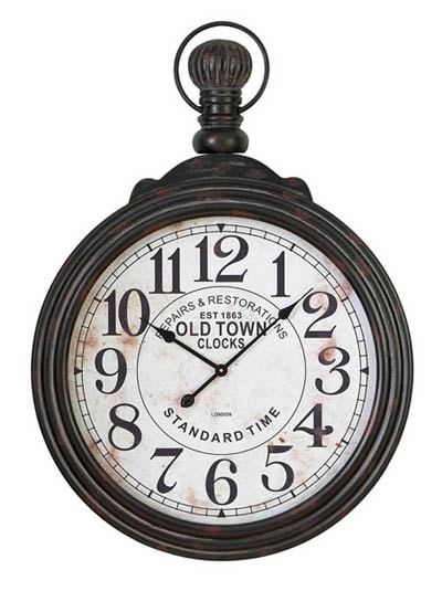 Old Fashioned Wall Clock Globe Imports