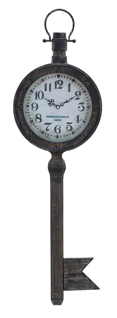 Key Shaped Wall Clock Globe Imports