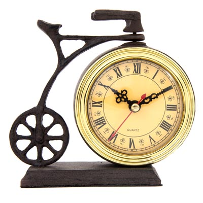 Old Fashioned Bicycle Clock Globe Imports