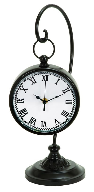 Old Fashioned Clock On Stand Globe Imports