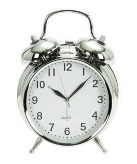 Vintage Style Chrome Alarm Clock