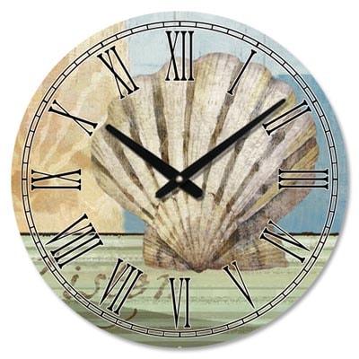 Seashell wall clock globe imports for Seashell wall clock