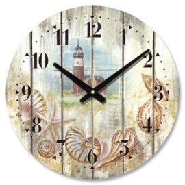 Weathered Lighthouse Wall Clock