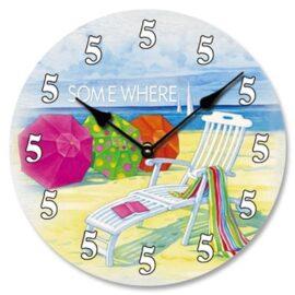 5 O'Clock Somewhere Wall Clock